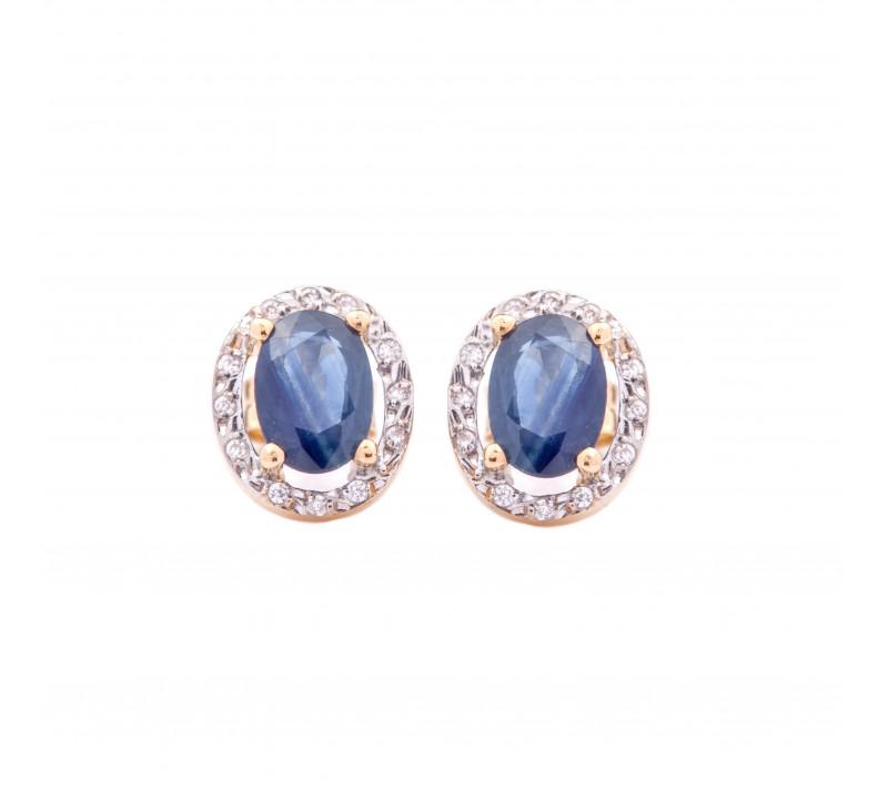 pendientes zafiro azul