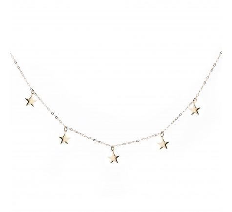 Collar con estrellas en oro 18 K