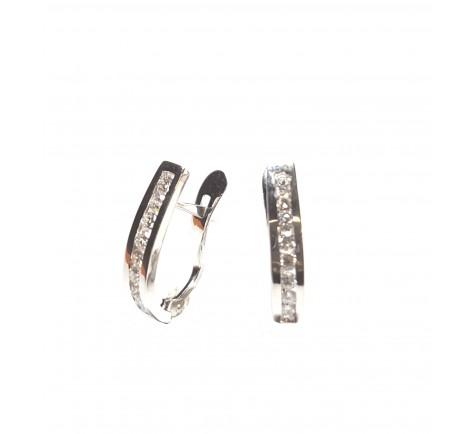 Pendientes de diamantes con 0.36 cts en oro 18K