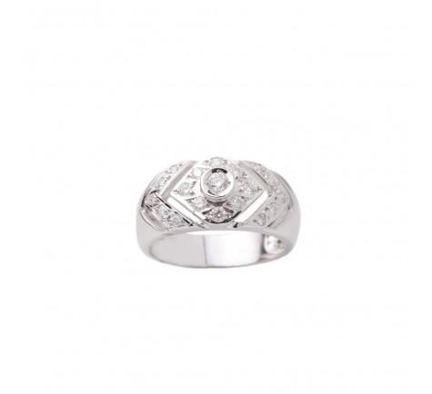 Sortija en diamantes con 0.45 cts en 18 K