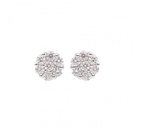 Pendientes de diamantes con 0.75 cts