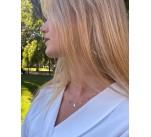 Collar combinado con piedras de color y motivos en oro 18K